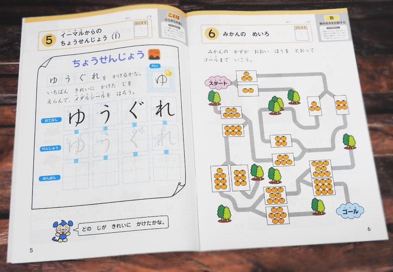 Z会幼児コースの問題例